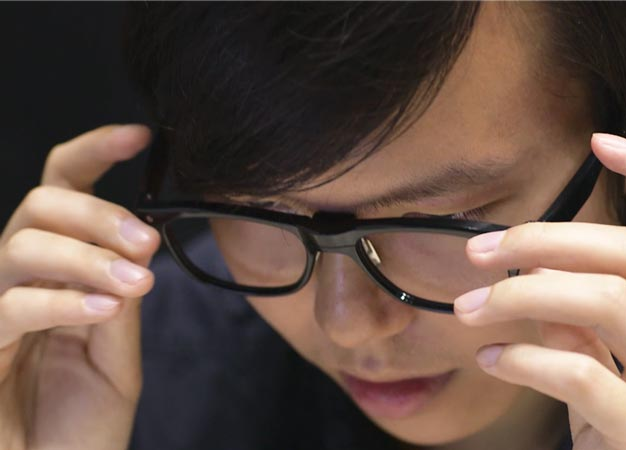 Glasses being retailed by the Japanese eyewear company J!NS can monitor fatigue and concentration levels.
