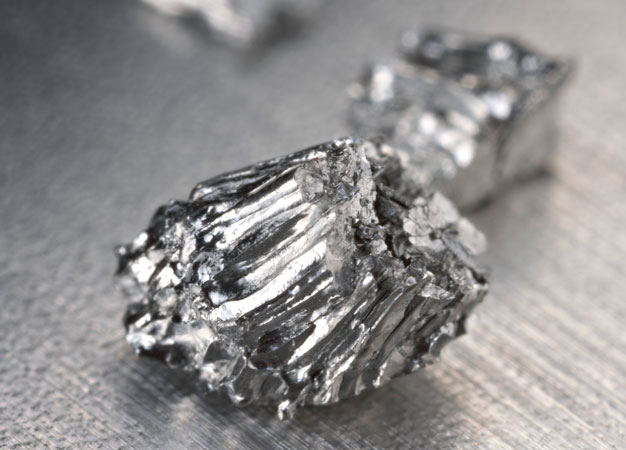 Keio University researchers have found a way to replace the expensive precious metal ruthenium (pictured) with a simple iron catalyst for the carbon-hydrogen alkylation of aromatic ketones by alkenes.
